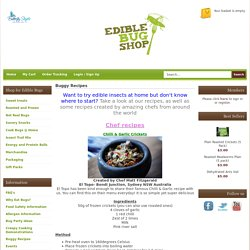 Buggy Recipes Edible Bug Shop