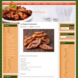 Chef Royale: Bugnes lyonnaises