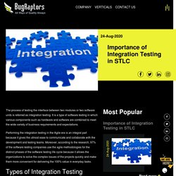 Importance of Integration Testing in STLC
