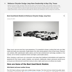 Best Used Buick Models At Reliance Chrysler Dodge Jeep Ram