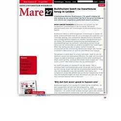 MARE: Buikhuisen keert na kwarteeuw terug in Leiden - NIEUWS