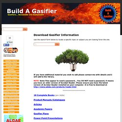 Build A Gasifier - Gasifier Downloads