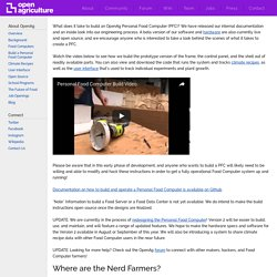Build a Personal Food Computer