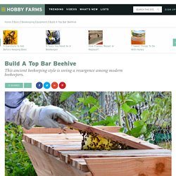 Build A Top Bar Beehive