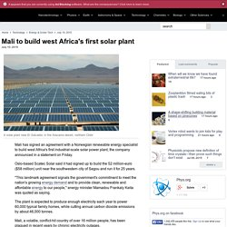 Mali to build west Africa's first solar plant
