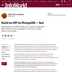 Build an API to MongoDB