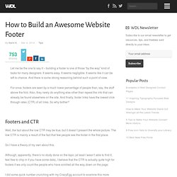 How to Build an Awesome Website Footer