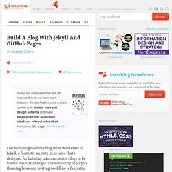 Build A Blog With Jekyll And GitHub Pages