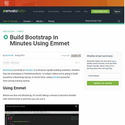 Build Bootstrap in Minutes Using Emmet