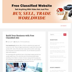 Build Your Business with Free Classified Ads