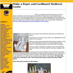 Build a Cardboard and Paper Castle