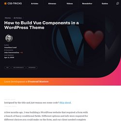 How to Build Vue Components in a WordPress Theme