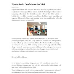 Tips to Build Confidence in Child