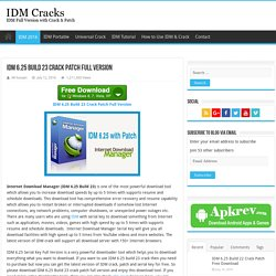 IDM 6.25 Build 23 Crack Patch Full Version