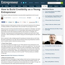 How to Build Credibility as a Young Entrepreneur