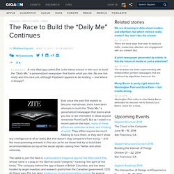 "The Race to Build the ""Daily Me"" Continues: Tech News and Analysis «"