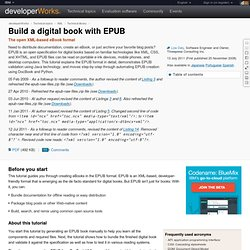 Build a digital book with EPUB - Vimperator