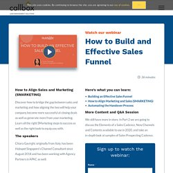 How to Build an Effective Sales Funnel [WEBINAR]