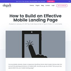 How to Build an Effective Mobile Landing Page