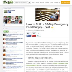 How to Build a 30-Day Emergency Food Supply…Fast