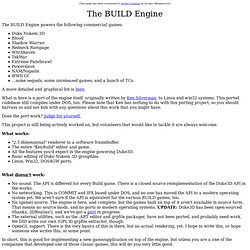 The BUILD Engine Porting Project