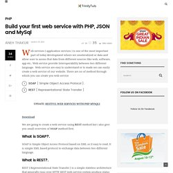 Build your first web service with PHP, JSON and MySql