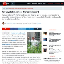 Ten ways to build an eco-friendly restaurant