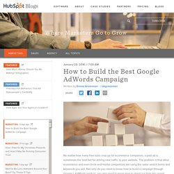 How to Build the Best Google AdWords Campaign