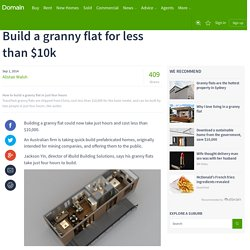 Build a granny flat for less than $10k
