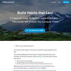 Build Habits That Last