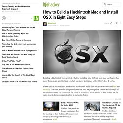 How to Build a Hackintosh Mac and Install OS X in Eight Easy Steps