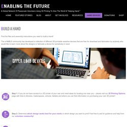 BUILD A HAND – Enabling The Future
