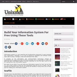 Build Your Information System For Free Using These Tools
