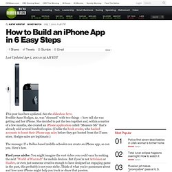 How to Build an iPhone App in 6 Easy Steps - CBS MoneyWatch.com