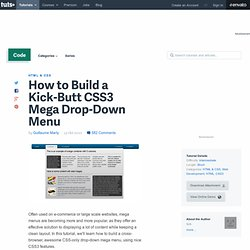 How to Build a Kick-Butt CSS3 Mega Drop-Down Menu