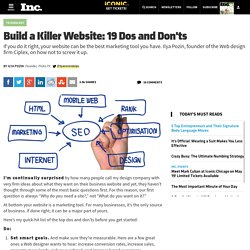 Build a Killer Website: 19 Dos and Donts