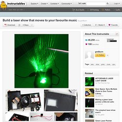Build a laser show that moves to your favourite music