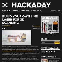 Build your own line laser for 3D scanning
