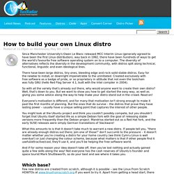 How to build your own Linux distro
