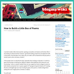 How to Build a Little Box of Poems