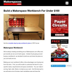 Build a Makerspace Workbench For Under $100 w/ Step-by Step-Plans