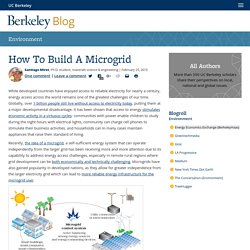 How To Build A Microgrid