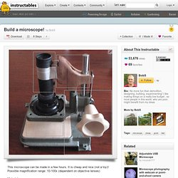 Build a microscope!
