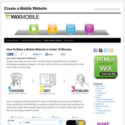 Create a Mobile Website