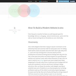 How To Build a Modern Website in 2011 - Tom Milway - Blog