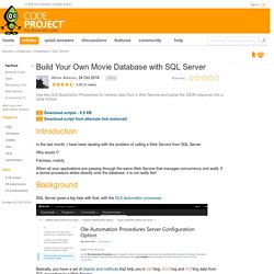 Build Your Own Movie Database with SQL Server