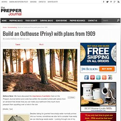 Build an Outhouse (Privy) with plans from 1909 - The Prepper Journal