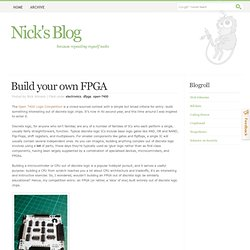 Build your own FPGA