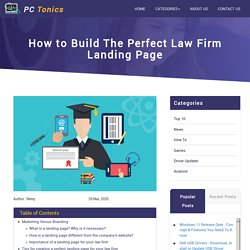 How to Build The Perfect Law Firm Landing Page