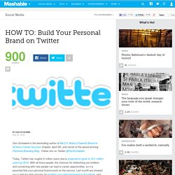HOW TO: Build Your Personal Brand on Twitter